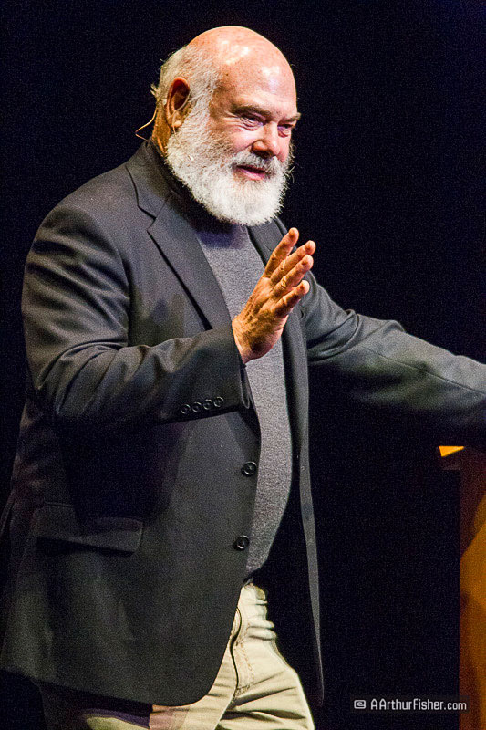 Dr. Andrew Weil giving a lecture in Santa Barbara, California (2011). Photo: A. Arthur Fisher