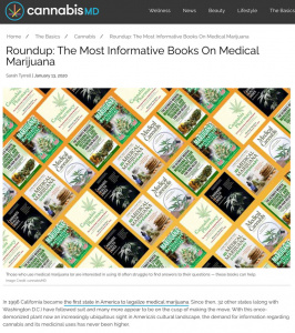 screenshot of article on Cannabis MD